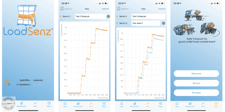 Screenshots LoadSenz App
